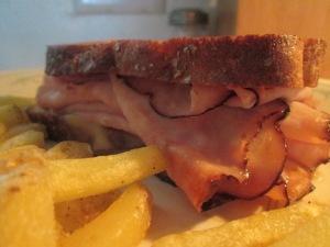 Grilled Ham and Turkey Sandwich 013