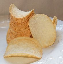 Pringles potato chips are uniform in size and shape, which allows them to be stacked.