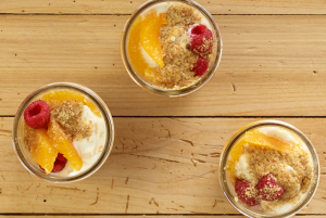 Raspberry Orange Parfaits