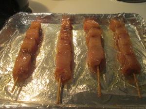 Sweet BBQ Chicken Kabobs w Whole Grain Brown Rice 004