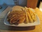 Cubed Pork Steak Sandwich w Baked Fries002