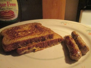 French Toast and Turkey Sausage Links 001