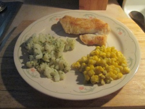 Seasoned Haddock w Roasted Garlic Cauliflower and Fiesta Lime Co 009