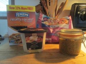 Shrimp, Tomato Pesto Sauce, Whole Grain Rotini, and Baked French 002