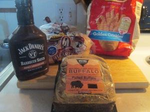 BBQ Pulled Buffalo Chuck Roast Sandwich w Baked Crinkle Fries 002