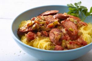 spaghetti-squash-turkey-jambalaya