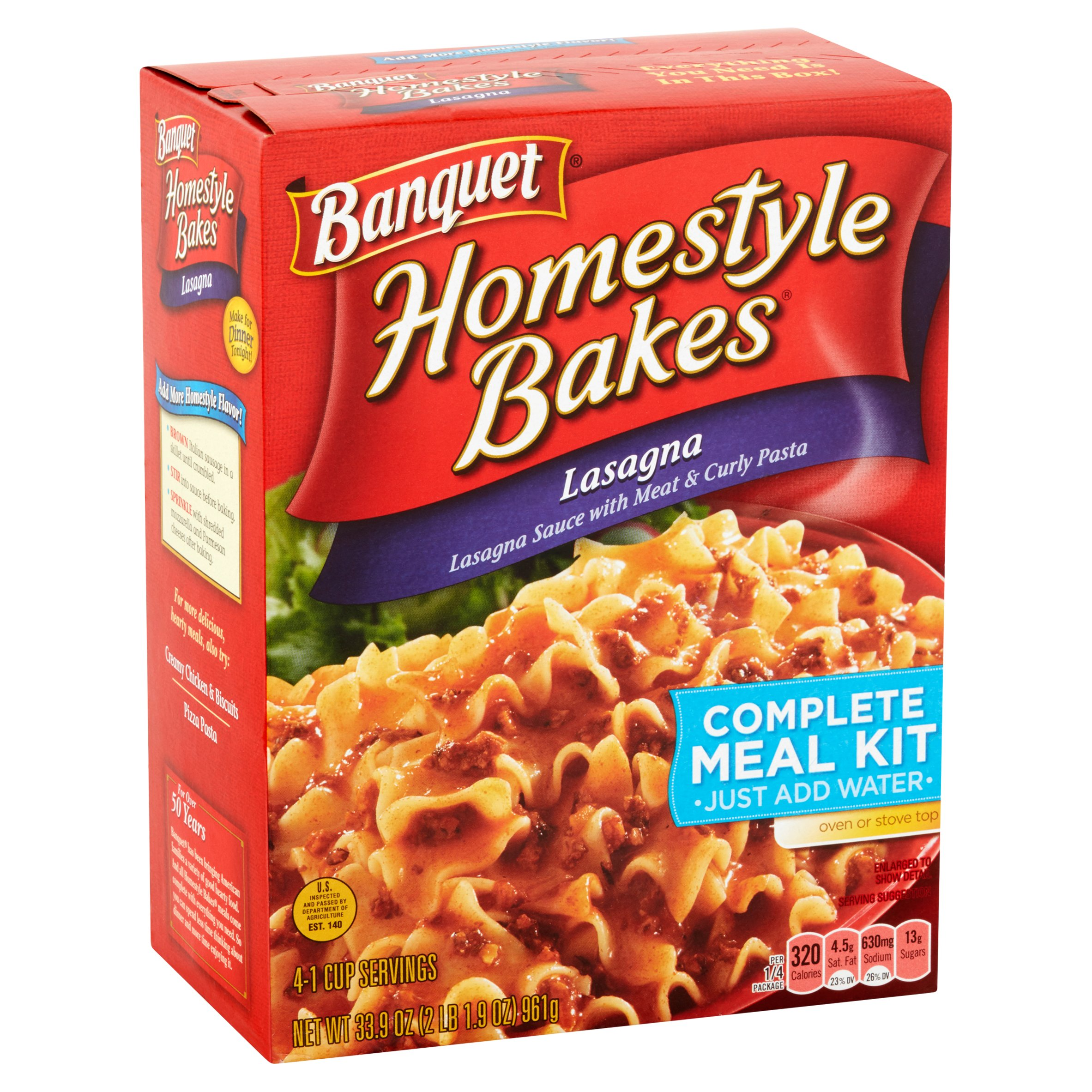 Banquet Homestyle Bakes Lasagna Complete Meal Kit My Meals Are