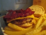 Turkey Burger w baked fries 014