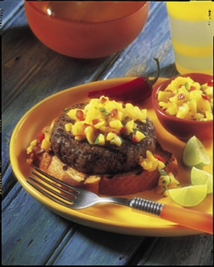 Caribbean beef burgers with mango salsa recipe diabetic recipes diabetic caribbean beef burgers with mango salsa recipe from diabetic gourmet magazine plus many more recipes for a healthy diabetic diet forumfinder Choice Image