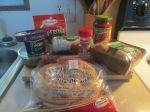 Turkey Pepperoni and Turkey Sausage Pita Bread Pizza001