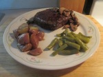 Buffalo Heel Steak and Sauteed Mushrooms013