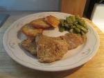 Catfish Nuggets Potato Pancakes Ital Beans004