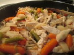 Chicken Stir fry Noodles Water Chestnuts Green Beans004