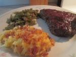 Buffalo Rib Eye 10 oz. Steak Ceesy Has Browns017