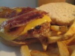 Bacon and Cheese Turkey Burger w Baked Fries006