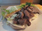 Marinated Bison Strip and Provolone Steak Hoagie009