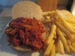 Montgomery Inn Pulled Pork BBQ Sandwich Baked Fries005