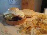 Bacon, Blue, Cheese, and Egg Buffalo Burger012
