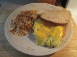 Egg Sandwich and Hash Browns 008