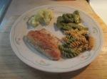Fried Walleye Cut Italian Beans and Italian Pasta Salad011