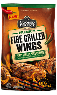 Zesty Herbs And Spice Fire Grilled Wings W Savory Herb Potatoes And Texas Toast Light My