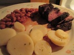 6 oz. Buffalo Sirloin Steak Seasoned Pinto Beans and Sliced Pota 017
