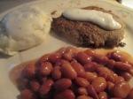 Beef Cubed Steak Mash Pot Gravy Pinto Beans011