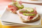 Cucumber and Turkey Ham onRye