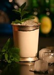 A mint julep served in the traditional silvercup