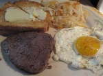 Bison Steak, Eggs, Hash Browns, and Toast008
