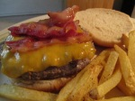 Chicken Bacon and Vermont Cheddar Cheese Buffalo Burger 009