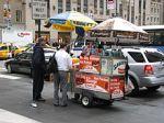 Vendor selling sausagesandwiches