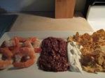 Shrimp, Scoops, Salsa, and Sour Cream011