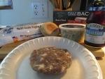 Bacon and Blue Buffalo Burger Blackberry Jam002