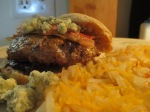 Bacon and Blue Buffalo Burger Blackberry Jam010