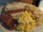 Thin Cut Pork Chops, Hash Browns, Scrambled Eggs010