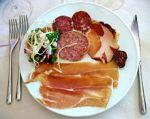 Antipasto with ham andsausage