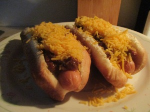 Turkey Frank Cincinnati Style Cheese Coneys