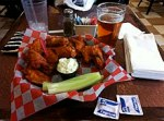 Buffalo wings with blue cheesedressing