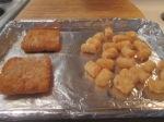 Fish sanwich tatertots