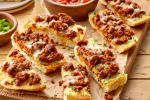 Cheesy Turkey Chorizo GarlicBread