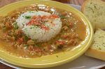 Crawfish étouffée, served at a restaurant in NewOrleans