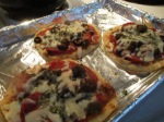 Naan Bread Pizza baked on baking sheet
