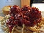 Whole Wheat Spaghetti and Turkey Meatballs in plate MEIJER MEATBALLS1