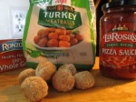 Whole Wheat Spaghetti and Turkey Meatballs ingredients on cutting board MEIJER MEATBALLS 2