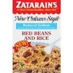 Zatarains Red Sodium Red BeansRice