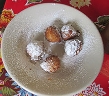 Plate of calas at a New Orleans restaurant