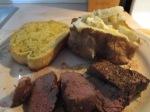 5 oz. Petite Buffalo Top Sirloin Steak Baked Potato Salad Texas Toast1