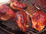 Marinated chicken on a barbecue