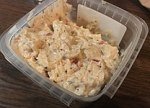 Close-up view of a commercial pimentocheese